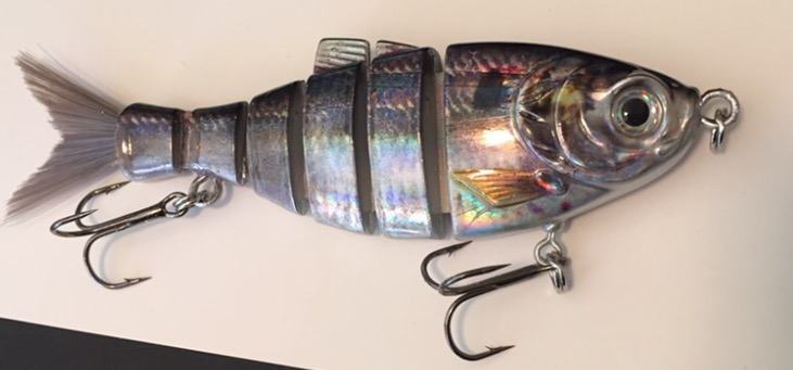 """4"""" foiled shad is the perfect bite sized bait for a variety of fish!"""